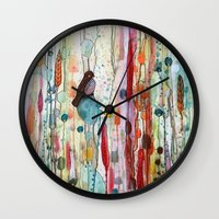 la Wall Clocks featuring sur la route by sylvie demers