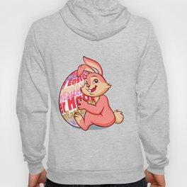 Easter bunny rabbit with pink egg Hoody