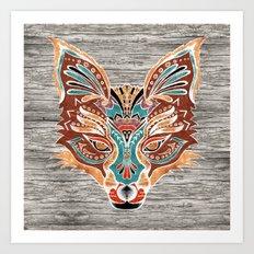 Zorro! (Bohemian Fox) Art Print