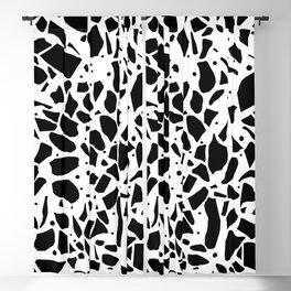 Terrazzo Spot White Blackout Curtain
