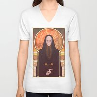 heymonster V-neck T-shirts featuring Reverend Mother by heymonster
