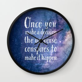 The universe conspires Wall Clock