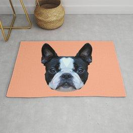 Frenchie / Boston Terrier // Peach / Apricot Rug