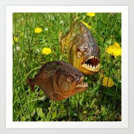 Crazyfish Alarm Art Print