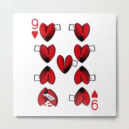 Delicious Deck: The Nine of Hearts Metal Print