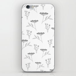 Minimal flowers iPhone Skin