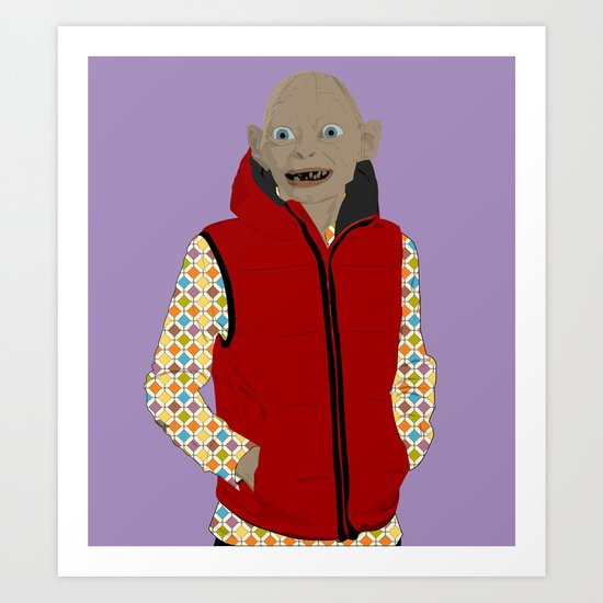 GOLLUM MODERN OUTFIT VERSION - The lord of the rings Art Print