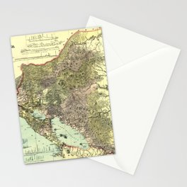 Map Of Nicaragua 1894 Stationery Cards