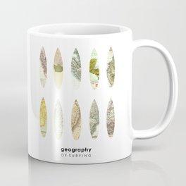 Geography of surfing Coffee Mug