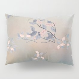 Blue Watercolor Woodland Leaves Pillow Sham