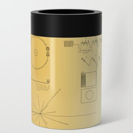 Voyager 1 Golden Record #3 Can Cooler