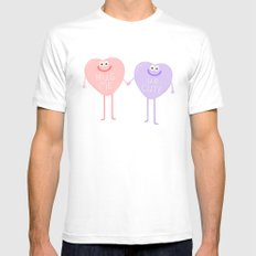 Candy Sweethearts  Mens Fitted Tee White MEDIUM