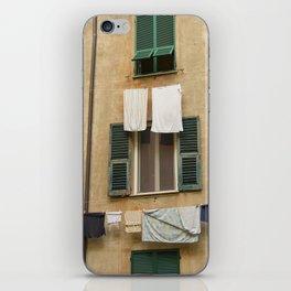 Hanging laundry iPhone Skin
