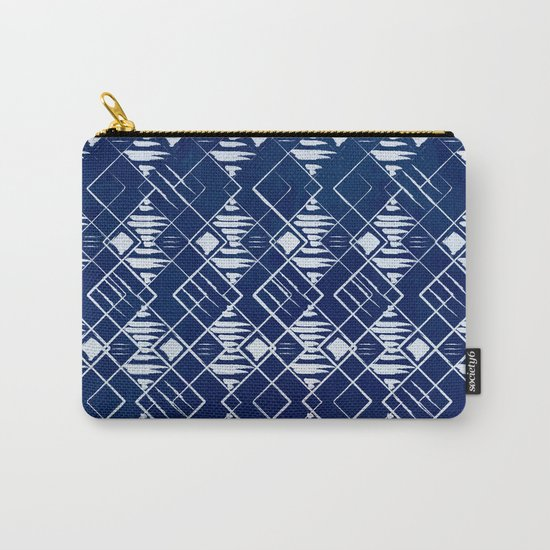 Blue Summer Pattern Carry-All Pouch