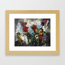 Escaping roses Framed Art Print