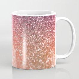 Rose Gold Peach Glitter Blush Coffee Mug