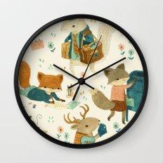 Critter Post Wall Clock
