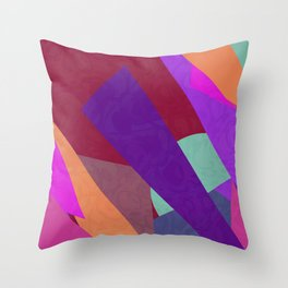 Multi Colored Red Purple Orange Geometric Abstact Throw Pillow