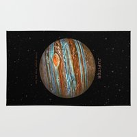 sailor jupiter Area & Throw Rugs featuring Jupiter by Terry Fan