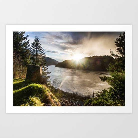 Columbia River Gorge - Oregon Art Print