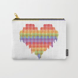 Gingham Heart Carry-All Pouch