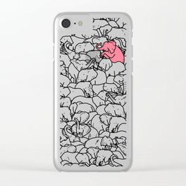 Word 2 the Herd v1 Clear iPhone Case