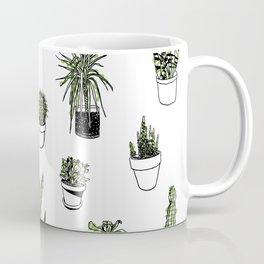 Plant Wall Succulent Pattern Coffee Mug