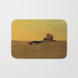 """Marooned"" Pirate Art by Howard Pyle Bath Mat"