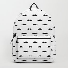 Moustache Pattern Backpack