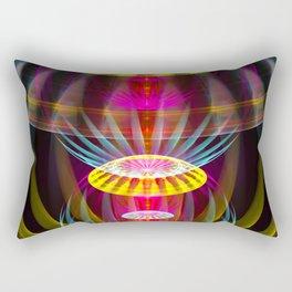 Alien sphere fractal fantasy Rectangular Pillow
