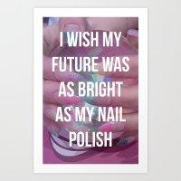 nail polish Art Prints featuring Nail Polish by ewwidc