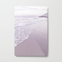 Happiness comes in pastel purple waves Metal Print