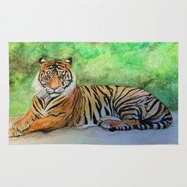 Tiger at rest Rug