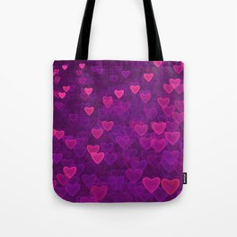 Abstract Pink Ultra Violet Love Heart Pattern | St Valentines day Tote Bag