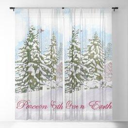 Peace On Earth Sheer Curtain