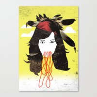 bjork Canvas Prints featuring Bjork by Teagues Art