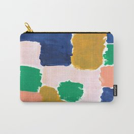 Shel - abstract painting boho modern bright minimal color palette gender neutral dorm college decor Carry-All Pouch