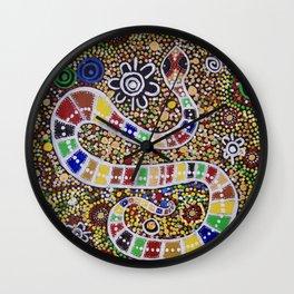 THE RAINBOW SERPENT Wall Clock