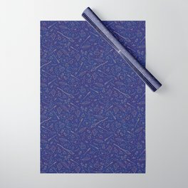 Yer a Wizard - Blue + Bronze Wrapping Paper