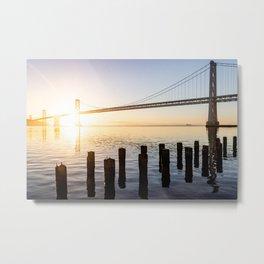 Bay Bridge at Sunrise Metal Print