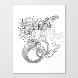 Pacific North West Mermaid Canvas Print