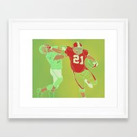 "49ers Framed Art Prints featuring 49ers ""Frank"" Gore by Courtney Charlton"