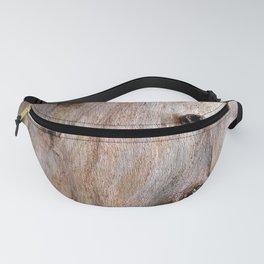 Eucalyptus Tree Bark and Wood Texture 14 Fanny Pack