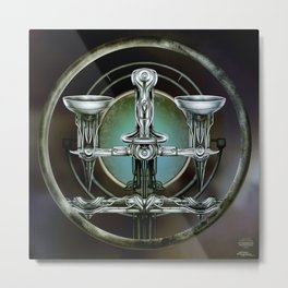 """Astrological Mechanism - Libra"" Metal Print"