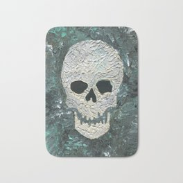 Large Skull Painting Bath Mat