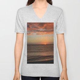 Somber Sunset Unisex V-Neck
