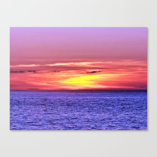 Saturated Sunset Delight Canvas Print