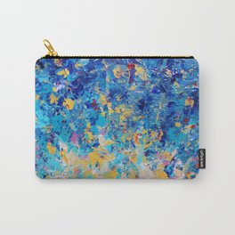 HYPNOTIC BLUE SUNSET - Simply Beautiful Royal Blue Navy Turquoise Aqua Sunrise Abstract Nature Decor Carry-All Pouch