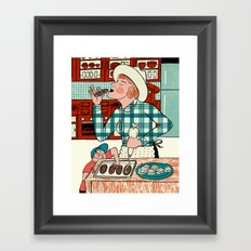 Deb at Home Framed Art Print