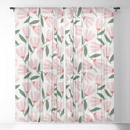 Daphne Floral Toss Sheer Curtain